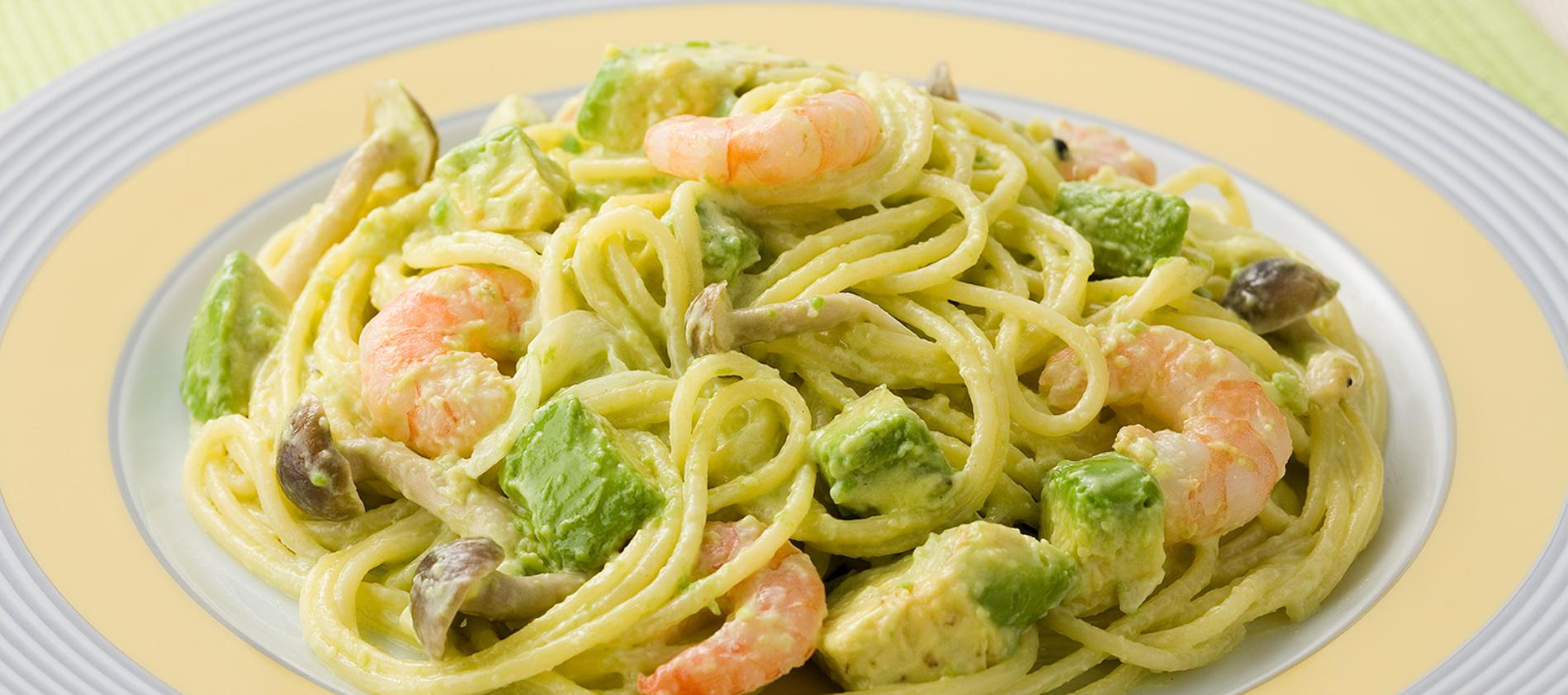Creamy Wasabi Avocado Spaghetti