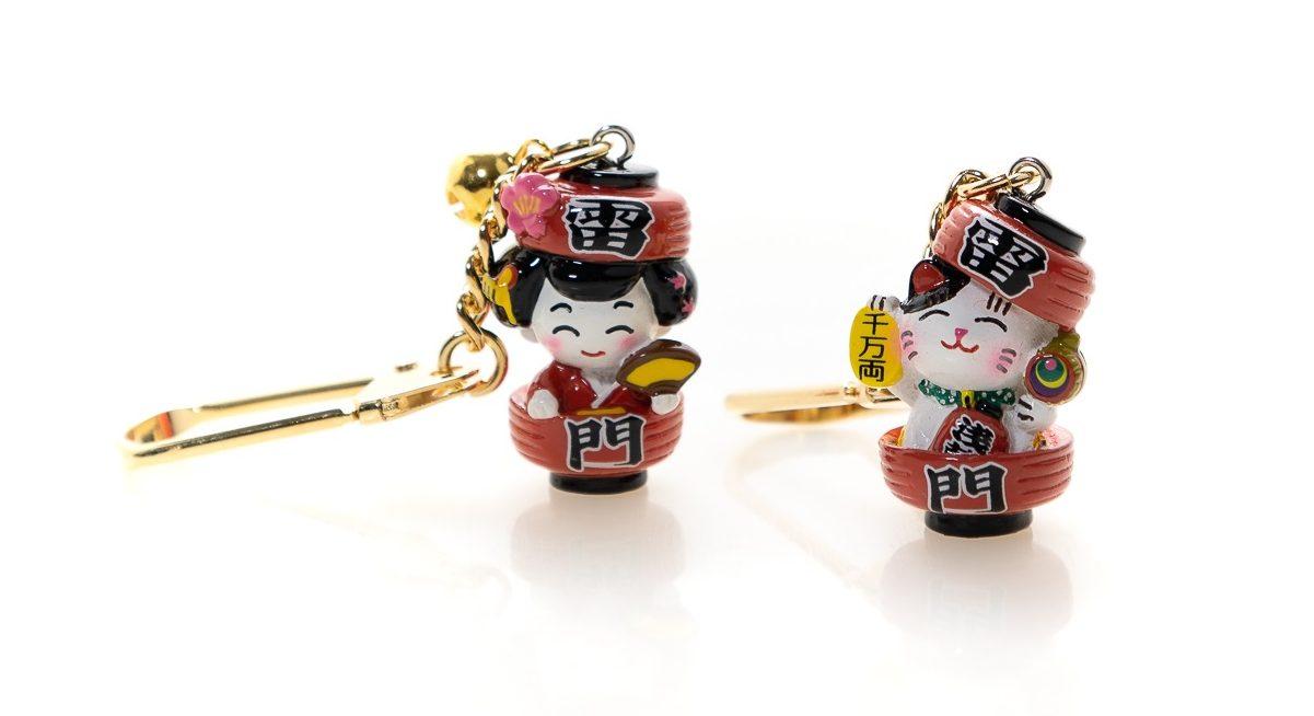 Key Ring Kaminarimon Happiness Cat