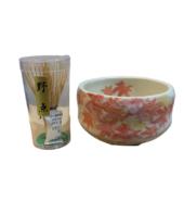 طقم كوب شاي ماتشا شينو ورقة القيقب