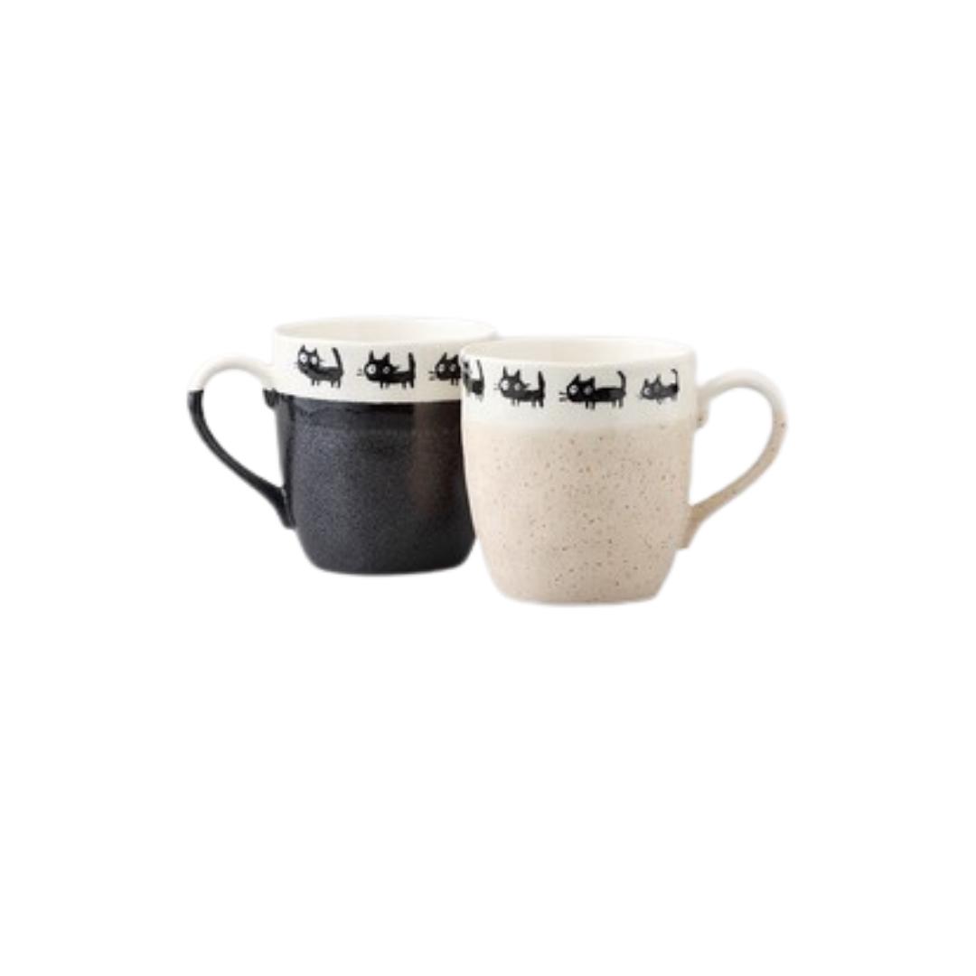 Black Cat Pair Mugs
